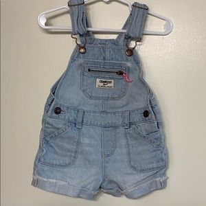 Osh Kosh | Baby Girl Overall Shorts | 18 Months